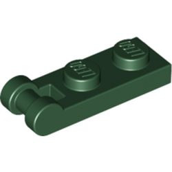 Dark Green Plate, Modified 1 x 2 with Bar Handle on End - Closed Ends