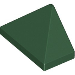 Dark Green Slope 45 2 x 1 Triple with Bottom Stud Holder - new