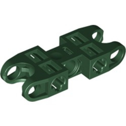 Dark Green Technic, Axle and Pin Connector 2 x 5 with 2 Ball Joint Socket - used
