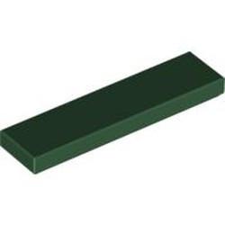 Dark Green Tile 1 x 4 - used