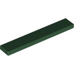 Dark Green Tile 1 x 6 - new