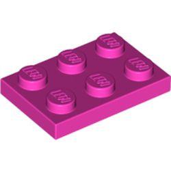 Dark Pink Plate 2 x 3