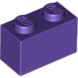 Dark Purple Brick 1 x 2