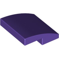 Dark Purple Slope, Curved 2 x 2 - used