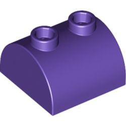 Dark Purple Slope, Curved 2 x 2 x 1 Double with 2 Studs