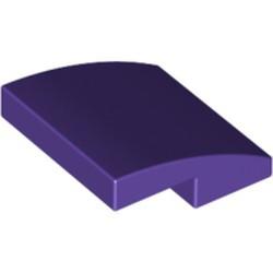 Dark Purple Slope, Curved 2 x 2