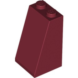 Dark Red Slope 75 2 x 2 x 3 - Solid Studs - used