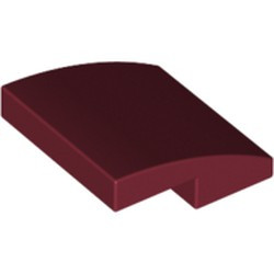 Dark Red Slope, Curved 2 x 2 - new