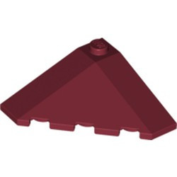 Dark Red Wedge 4 x 4 (Slope 18 Corner) - used