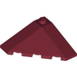 Dark Red Wedge 4 x 4 (Slope 18 Corner)