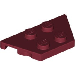 Dark Red Wedge, Plate 2 x 4 - used