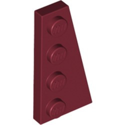 Dark Red Wedge, Plate 4 x 2 Right