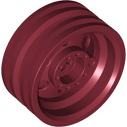 Dark Red Wheel 30mm D. x 14mm (for Tire 43.2 x 14)