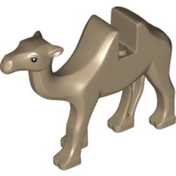 Dark Tan Camel with Black Eyes and White Pupils Pattern