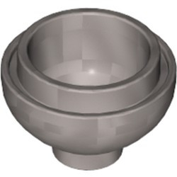 Flat Silver Brick, Round 2 x 2 Dome Bottom