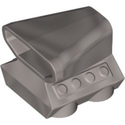 Flat Silver Vehicle, Air Scoop Engine Top 2 x 2 - new