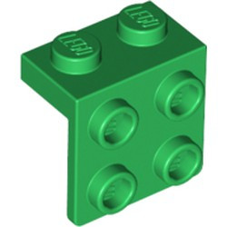 Green Bracket 1 x 2 - 2 x 2 - used