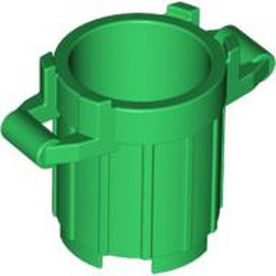 Green Container, Trash Can with 4 Cover Holders - used