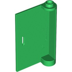 Green Door 1 x 3 x 4 Left - Open Between Top and Bottom Hinge - used