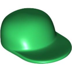 Green Minifigure, Headgear Cap - Long Flat Bill - used