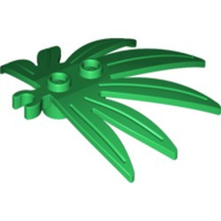 Green Plant Leaves 6 x 5 Swordleaf with Open O Clip Thick