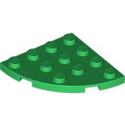 Green Plate, Round Corner 4 x 4