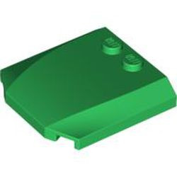Green Wedge 4 x 4 x 2/3 Triple Curved