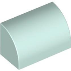 Light Aqua Slope, Curved 1 x 2 x 1
