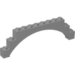 Light Bluish Gray Brick, Arch 1 x 12 x 3 Raised Arch with 5 Cross Supports - new