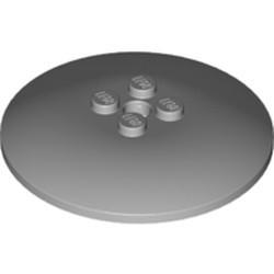 Light Bluish Gray Dish 6 x 6 Inverted (Radar) - used - Hollow Studs