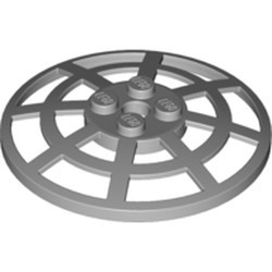 Light Bluish Gray Dish 6 x 6 Inverted (Radar) Webbed - Type 2 (underside attachment positions at 90 degrees) - used
