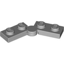 Light Bluish Gray Hinge Plate 1 x 4 Swivel Base with Same Color Hinge Plate 1 x 4 Swivel Top (2429 / 2430) - used