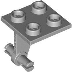Light Bluish Gray Plate, Modified 2 x 2 Thin with Dual Wheels Holder - Split Pins