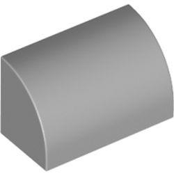 Light Bluish Gray Slope, Curved 1 x 2 x 1