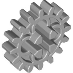 Light Bluish Gray Technic, Gear 16 Tooth First Version - 4 Round Holes - used
