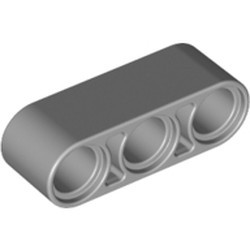 Light Bluish Gray Technic, Liftarm 1 x 3 Thick - new