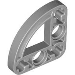 Light Bluish Gray Technic, Liftarm 3 x 3 L-Shape with Quarter Ellipse Thin - new