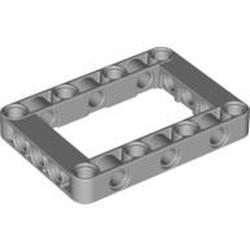 Light Bluish Gray Technic, Liftarm, Modified Frame Thick 5 x 7 Open Center