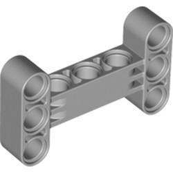 Light Bluish Gray Technic, Liftarm, Modified H-Shape Thick 3 X 5 Perpendicular