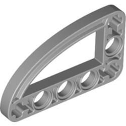 Light Bluish Gray Technic, Liftarm, Modified L-Shape Quarter Ellipse Thin 3 x 5