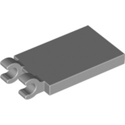 Light Bluish Gray Tile, Modified 2 x 3 with 2 Open O Clips