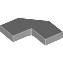 Light Bluish Gray Tile, Modified Facet 2 x 2 Corner with Cut Corner