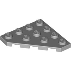 Light Bluish Gray Wedge, Plate 4 x 4 Cut Corner