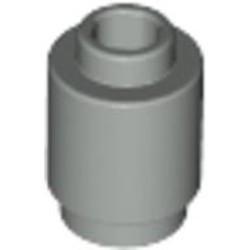 Light Gray Brick, Round 1 x 1 Open Stud - used