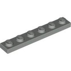 Light Gray Plate 1 x 6 - used