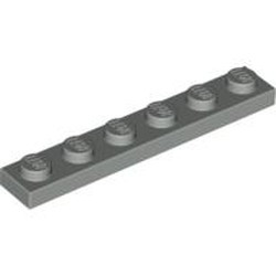 Light Gray Plate 1 x 6
