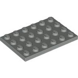 Light Gray Plate 4 x 6 - used