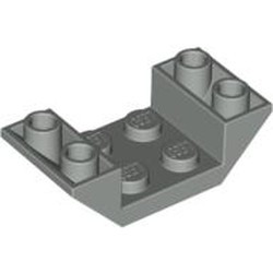 Light Gray Slope, Inverted 45 4 x 2 Double with 2 x 2 Cutout