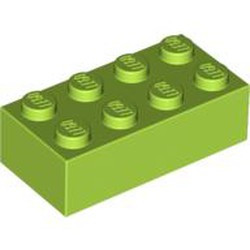 Lime Brick 2 x 4 - new