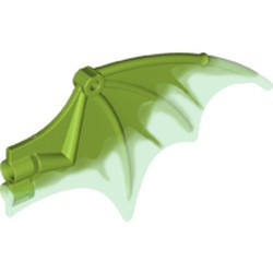 Lime Dragon Wing 13 x 8, Trans-Bright Green Trailing Edge - new
